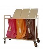 Chariot porte sacs en acier